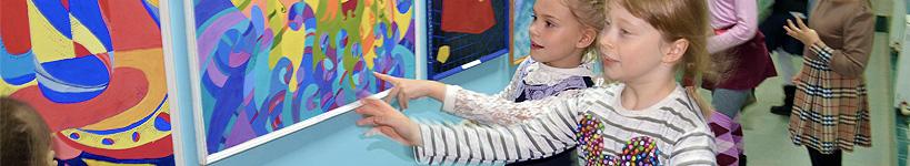 """Урок з малюками в галереї """"Синій кіт"""""""